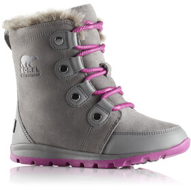 Sorel Youth Whitney Suede Boots Quarry/Raspberry
